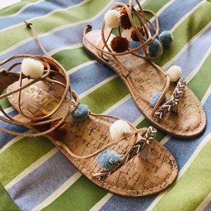 Sam Edelman Valencia Pom Pom Sandals